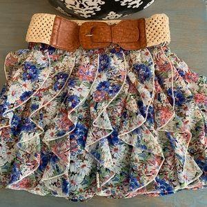 Rue21  ruffled mini skirt